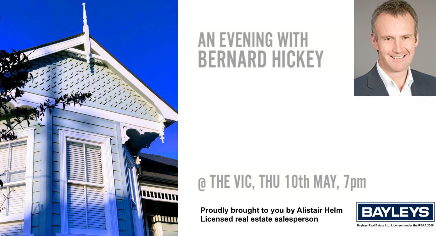 An evening with Bernard Hickey logo