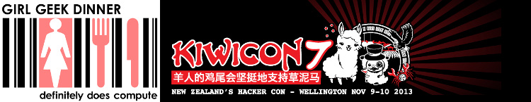 Kiwicon 7 Girl Geek Dinner logo