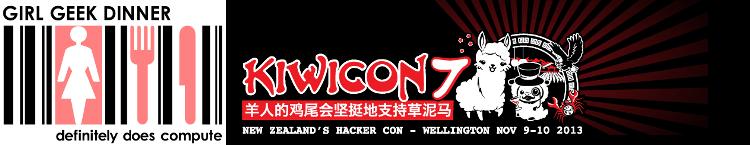 Kiwicon 7 Girl Geek Dinner logo