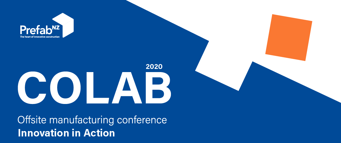 PrefabNZ CoLab 2020: Innovation in Action Conference logo
