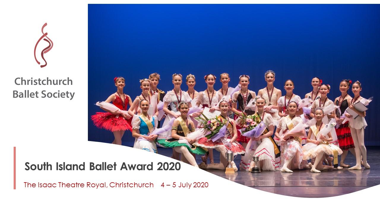South Island Ballet Award 2020 | Senior logo