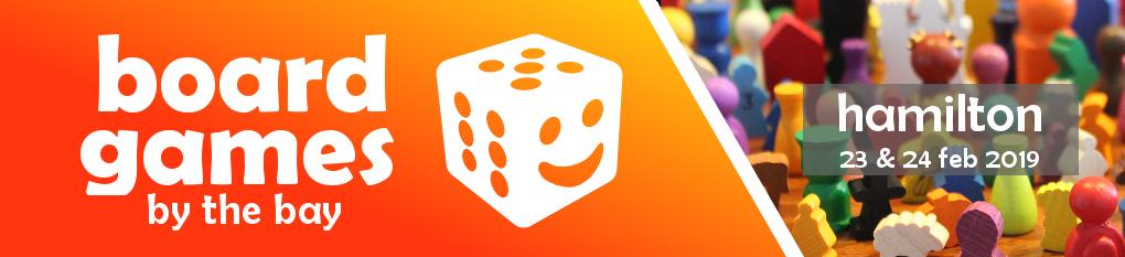 Board Games By The Bay - Hamilton, February 2019 logo