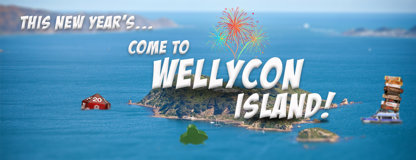 Wellycon Island Camping registration page logo