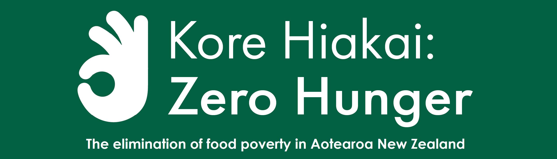 Kore Hiakai Zero Hunger Christchurch logo