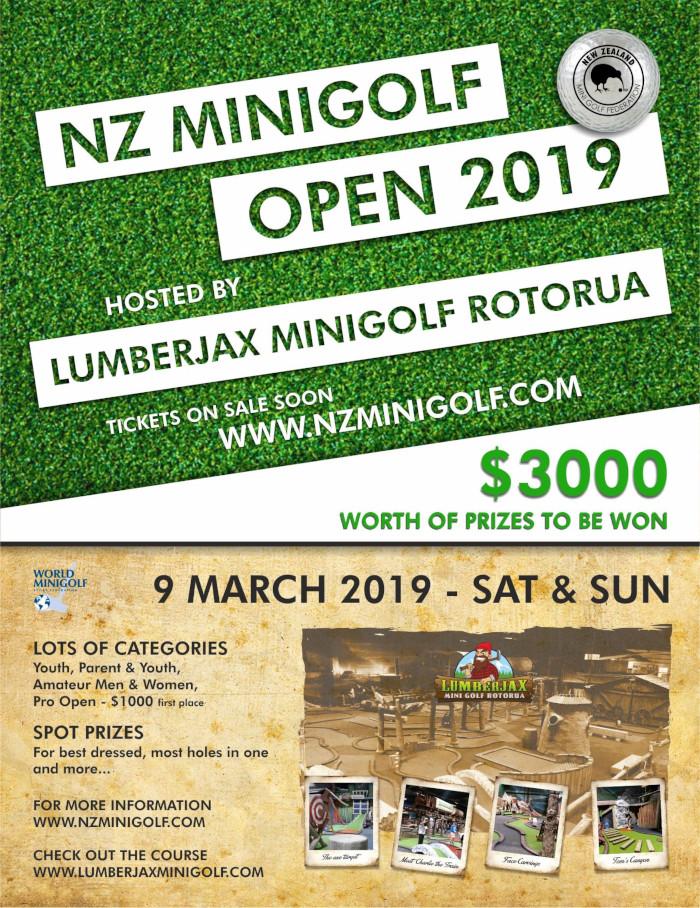 New Zealand Minigolf Open 2019 logo