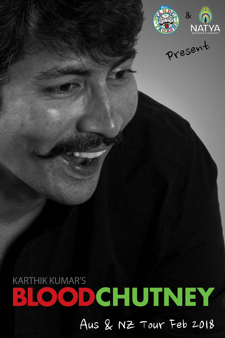BLOOD CHUTNEY Stand-up Comedy Show by Karthik Kumar (Auckland, NZ) logo