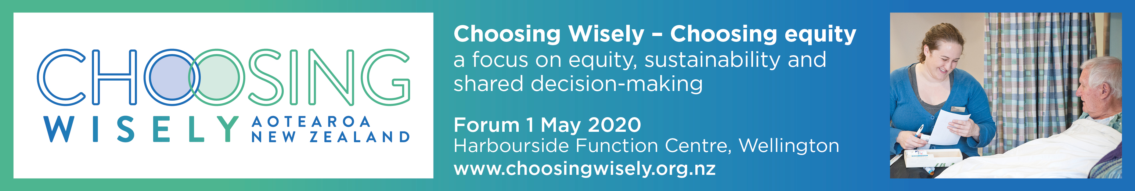 Choosing Wisely - Choosing Equity: a  focus on equity, sustainability & shared decision-making logo
